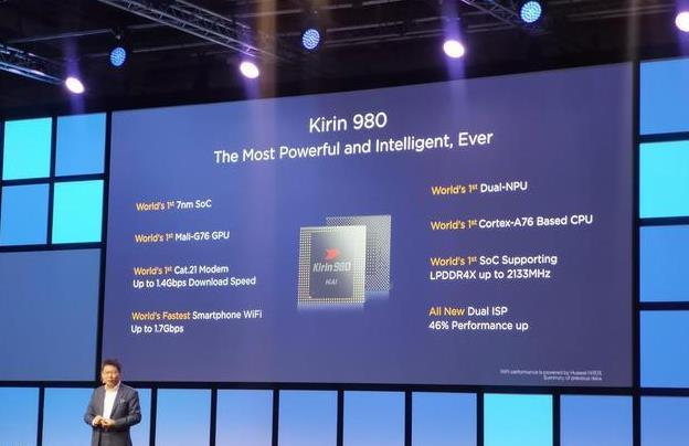 麒麟980正式发布:首款7纳米制程